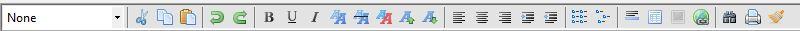 HTML Editor toolbar