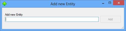 Add Entity dialog