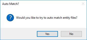Auto match files to Entities option