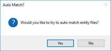 Auto match files to Entities option