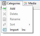 Add Media Category dialog