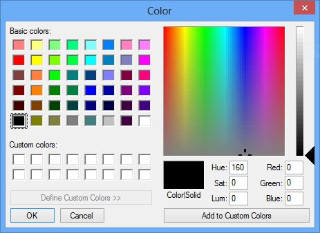 Watermark Image color selection dialog