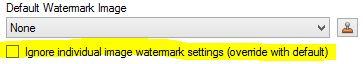Default image watermark override option