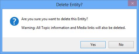 Delete Entity confirmation dialog