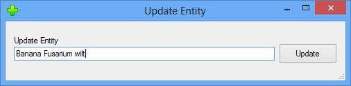 Update Entity dialog