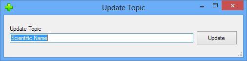 Edit/Update Topic dialog