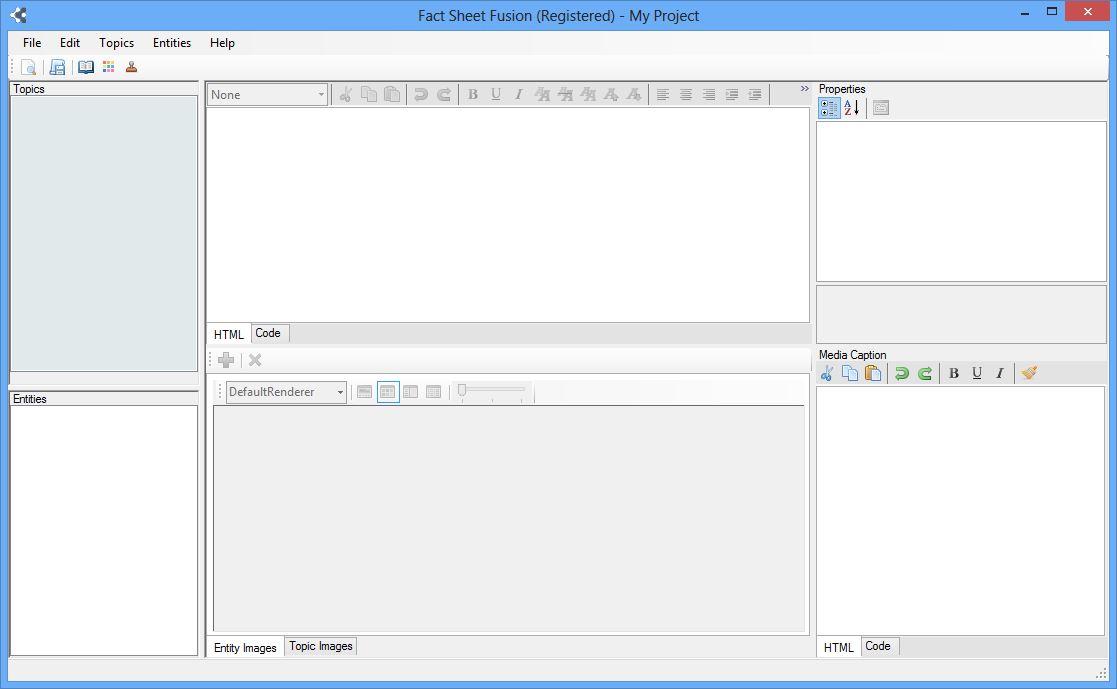 Main Fact Sheet Fusion Interface without data