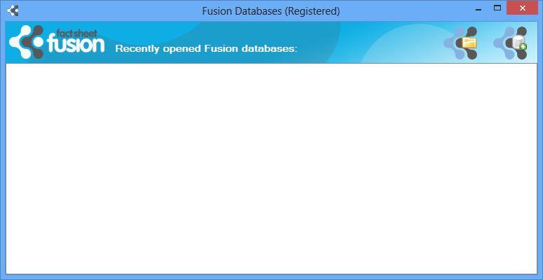 Open Fusion database dialog