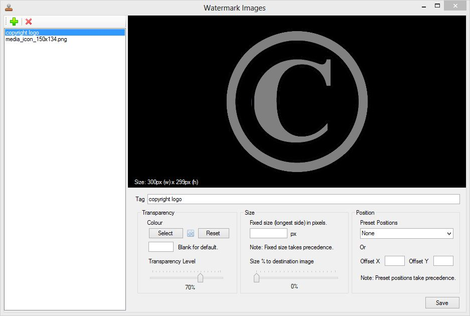 Watermark Images Manager Interface