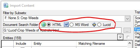 Define import document type