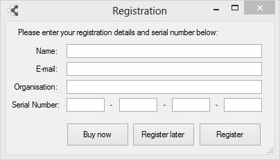 Fact Sheet Fusion Registration dialog