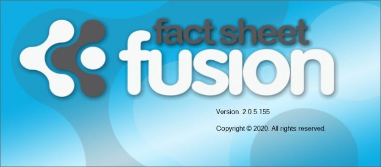 Fact Sheet Fusion Splash Screen