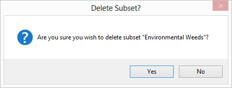 Delete Subset confirmation dialog