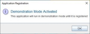 Lucid Builder Demonstration Mode notification