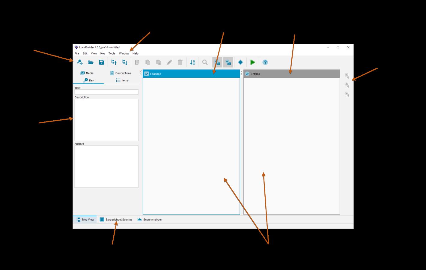 Lucid Builder Main Interface outline
