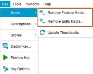Lucid Builder remove media menu options
