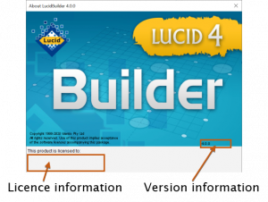 Lucid Builder About Dialog