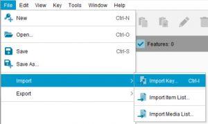 Lucid Builder - Import key menu option