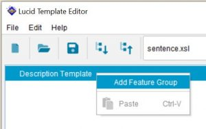 Lucid Builder Natural Language Template Editor Context Pop-up Menu