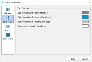 Lucid Builder Preferences dialog - Tree options