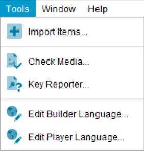 Lucid Builder Tools menu