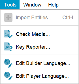 Lucid Builder tools menu (Pathway key project)