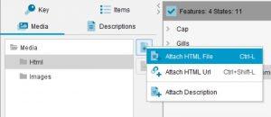 Lucid Builder Media Panel Add HTML pop-out menu