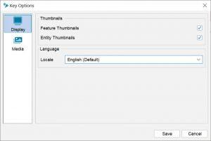Lucid Builder pathway key options dialog - Display options